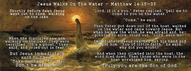 Painting: Christ Walking on the Waters - Julius Sergius Von Klever - with Mathew 14:25-33