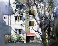 A water colour painting by Milind Mulick