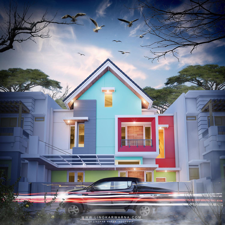Arsitek Rumah Minimalis: LINGKAR WARNA: Desain Warna Rumah Modern Minimalis Dua