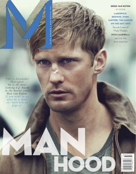 Alexander Skarsgard on Cover of M Magazine