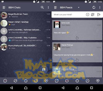 Download BBM Mod Dark Navy Versi 3.1.0.13 Apk Android Terbaru