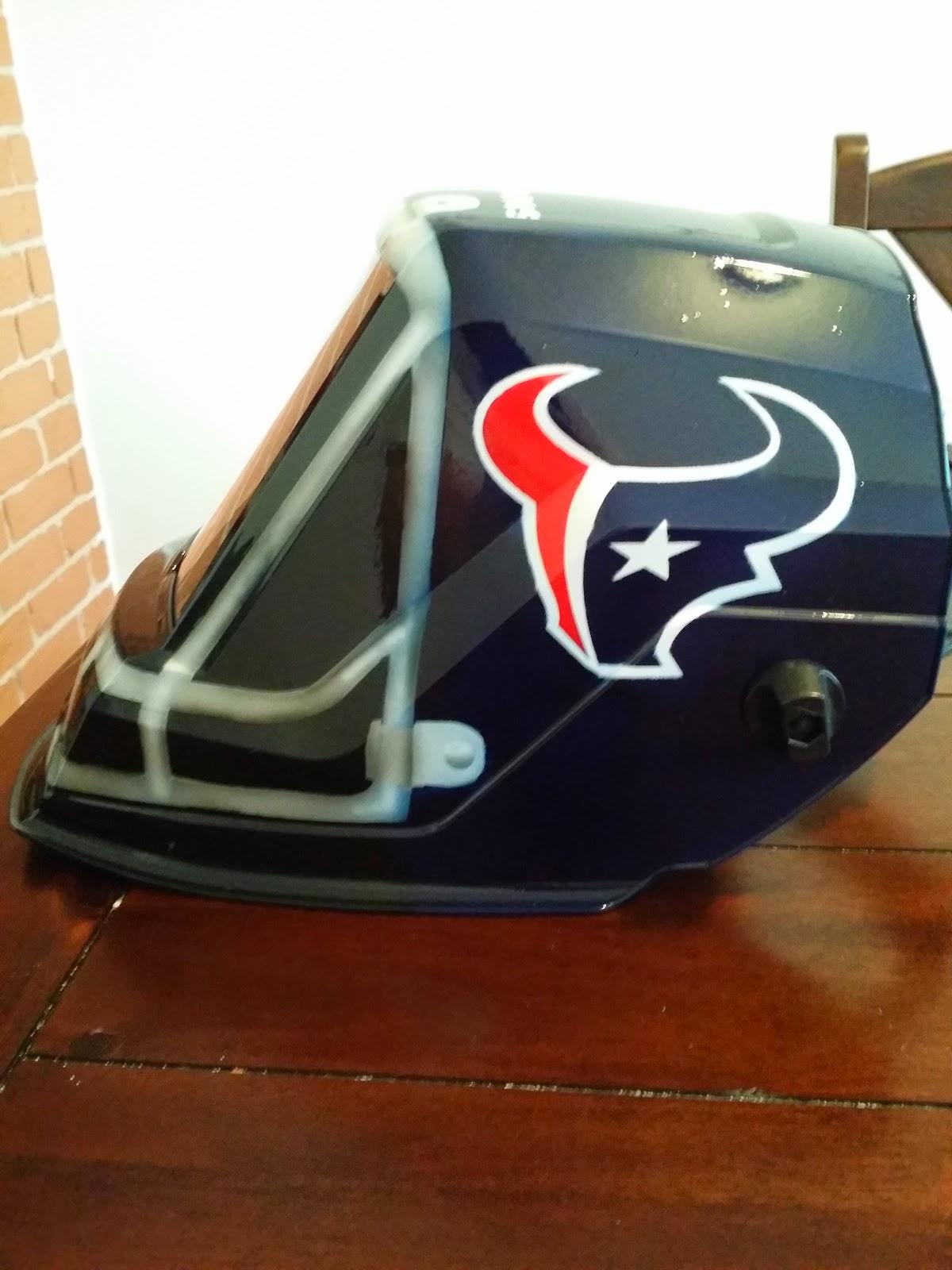 Custom Welding Helmets >> Zimmer DesignZ Custom Paint: Houston Texans Welding Helmet