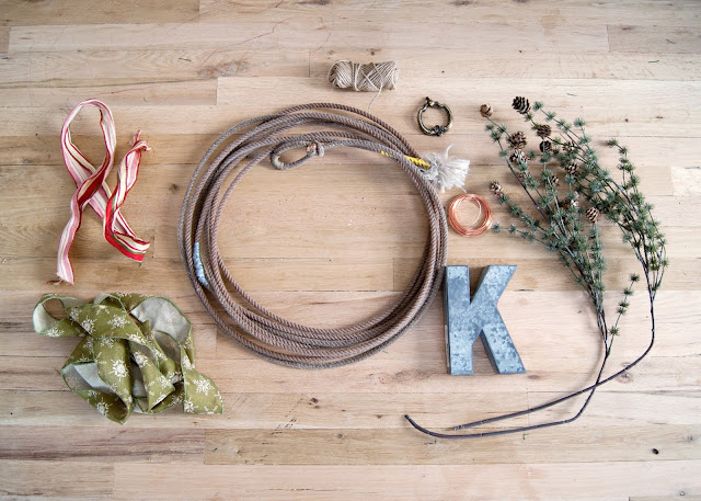 DIY Winter Rope Wreath
