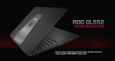 Spesifikasi ASUS ROG GL552JX