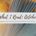What I Read: October
