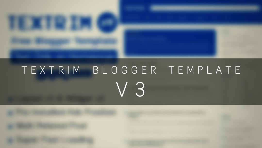 textrim blogger template