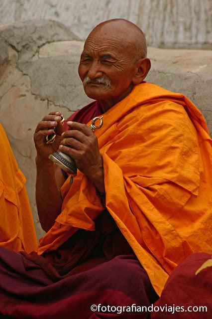 Ceremonia fin de mandala en Spituk, Ladakh