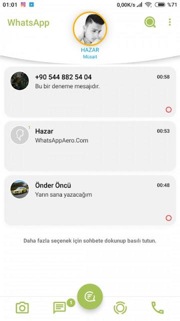 Aero WhatsApp hadir dengan perubahan yang sangat besar, bukan hanya sekedar WhatsApp Original saja yang sedikit diubah dan ditambahkan fitur baru. Namun Aero WhatsApp ini benar-benar mengubah pengalaman kalian saat menggunakan WhatsApp versi Mod.