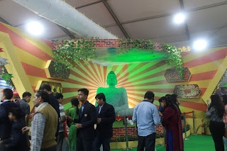 Mahatma Bodha's  statue at India international Trade Fair 2017