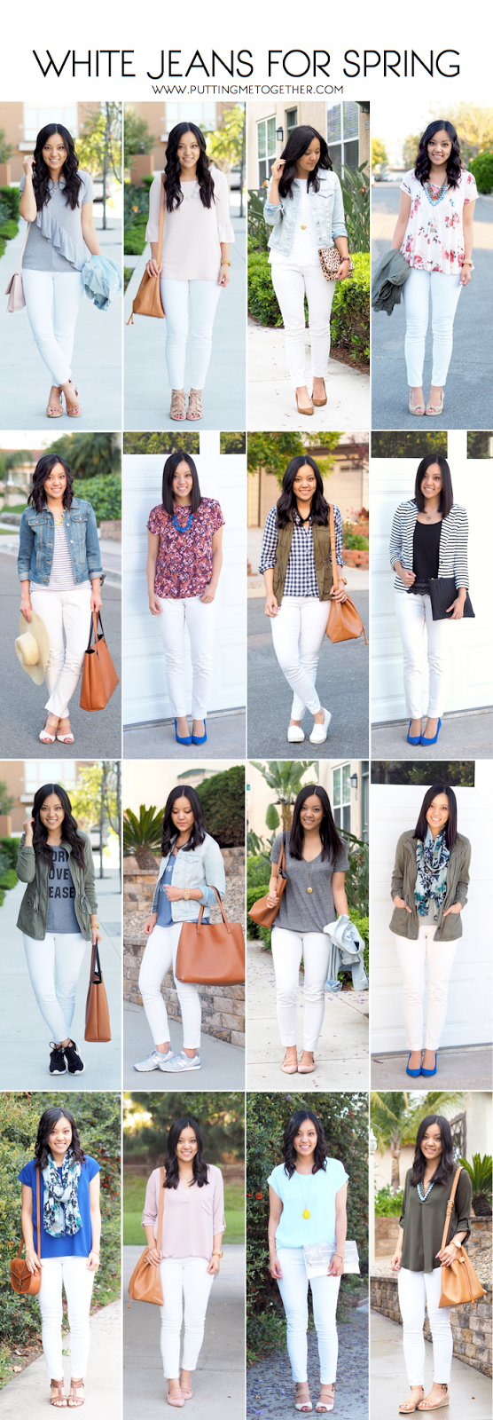 White Jeans for Spring - 16 Outfits