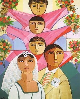 O Casamento - Cícero Dias e suas principais pinturas ~ Pintor pernambucano