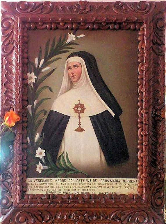 Soror Catarina de Jesus Herrera Campusano OP  (1717-1795). Quadro exposto em seu mosteiro.