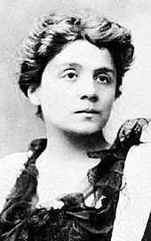 Eleonora Duse, the actress with whom D'Annunzio had a long affair