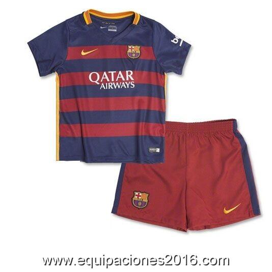 Las ventas en línea camisetas de futbol oficiales baratas. Comprar camisetas  de futbol niños FC Barcelona 2016. Información de Jersey  b4b1675108c