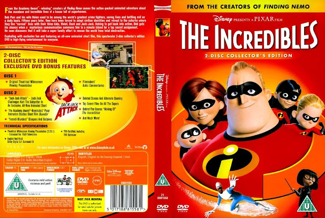 The Incredibles DVD cover front and back