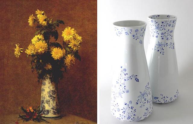 Henri Fantin-Latour : Chysanthèmes - Carolina León Firrell : Paire de vases Garden