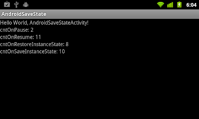 onSaveInstanceState() and onRestoreInstanceState()