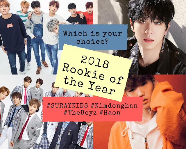 2018 kpop rookie of the year award