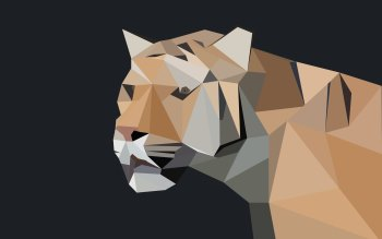 Wallpaper: Low Poly Tiger