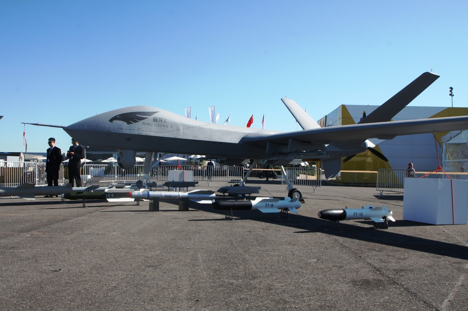 Chinese Wing Loong II Medium Altitude Long Endurance MALE Unmanned Combat Air Vehicle UCAV At Paris Show 2017 19 To 25 June Le Bourget