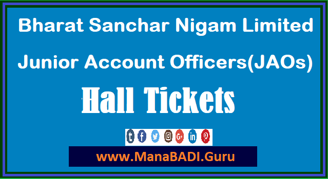 All India Jobs, Bharat Sanchar Nigam Limited, BSNL Recruitment, Junior Accounts Officers, Hall tickets, Admit Cards