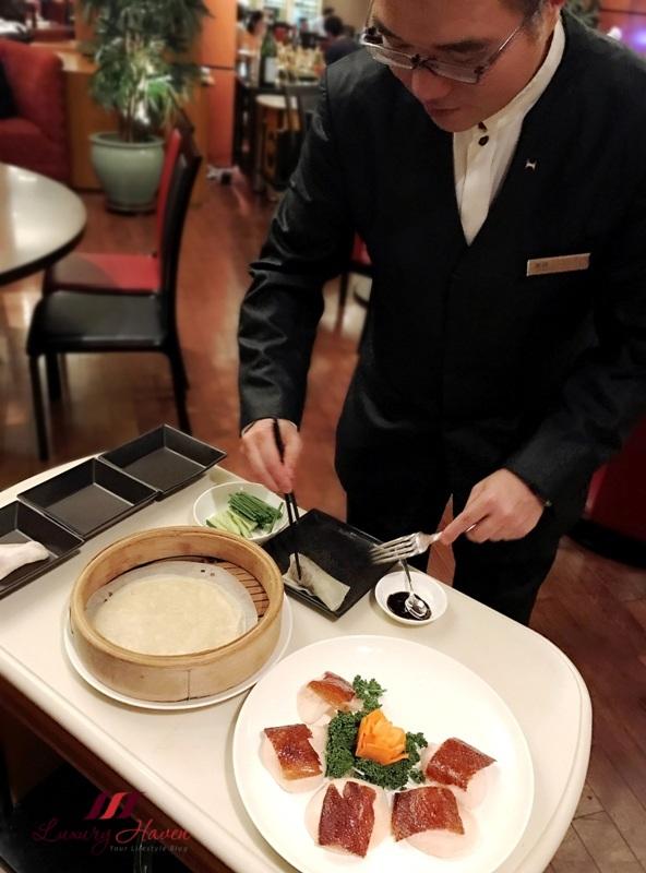 hilton tokyo bay dynasty restaurant peking duck review