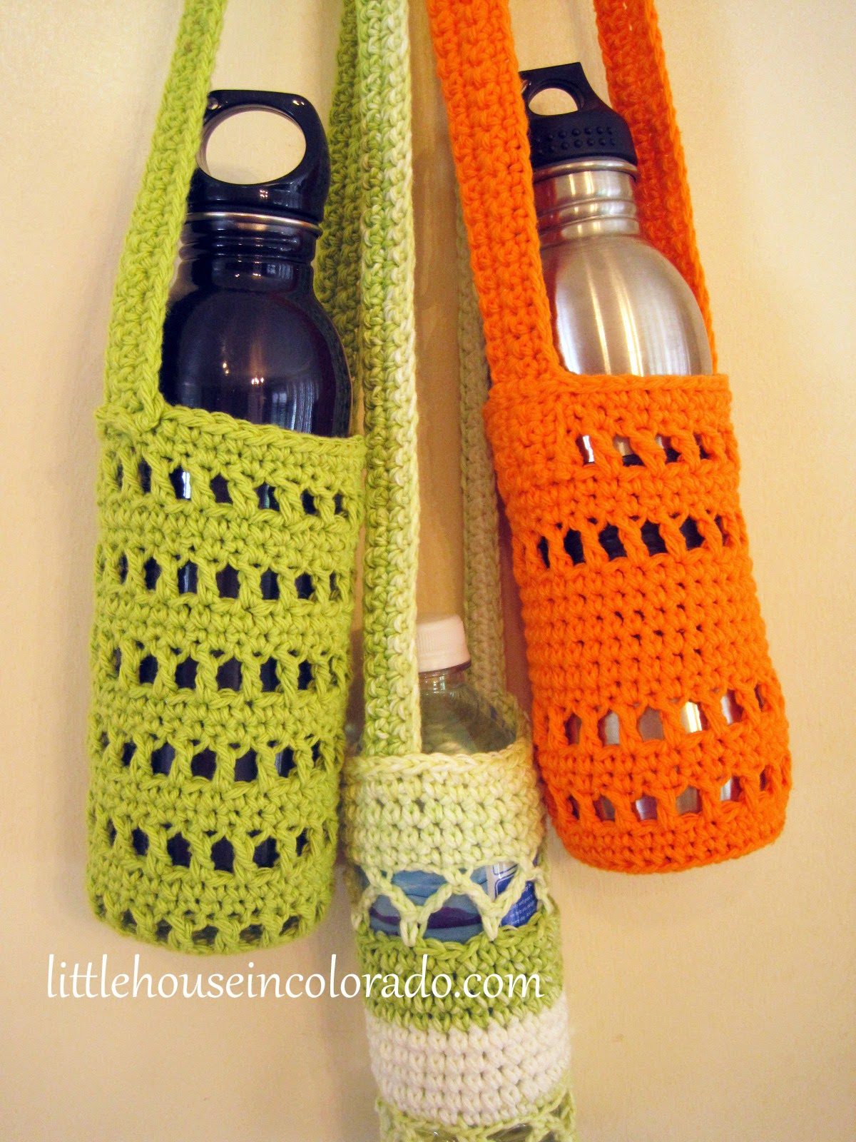 Little House In Colorado: Pattern For Crochet Water Bottle Holders
