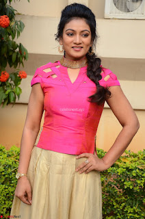 Ashmita in Pink Top At Om Namo Venkatesaya Press MeetAt Om Namo Venkatesaya Press Meet (85).JPG