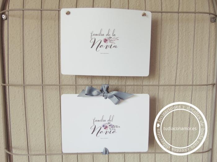 Blog de Tu día Con Amor invitaciones y detalles de boda: Carteles ...