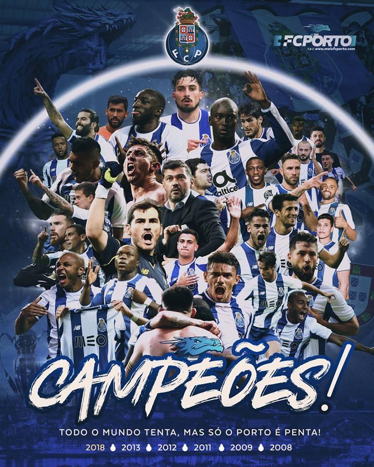 Porto Contra Krasnodar: Memória Portista: FC Porto Campeão Nacional 2017/2018