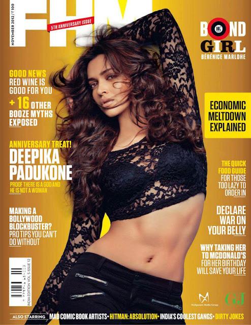 Deepika Padukone in FHM Magazine 2012