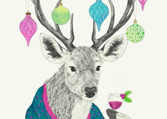 Mr Deer gets festive Laura Graves