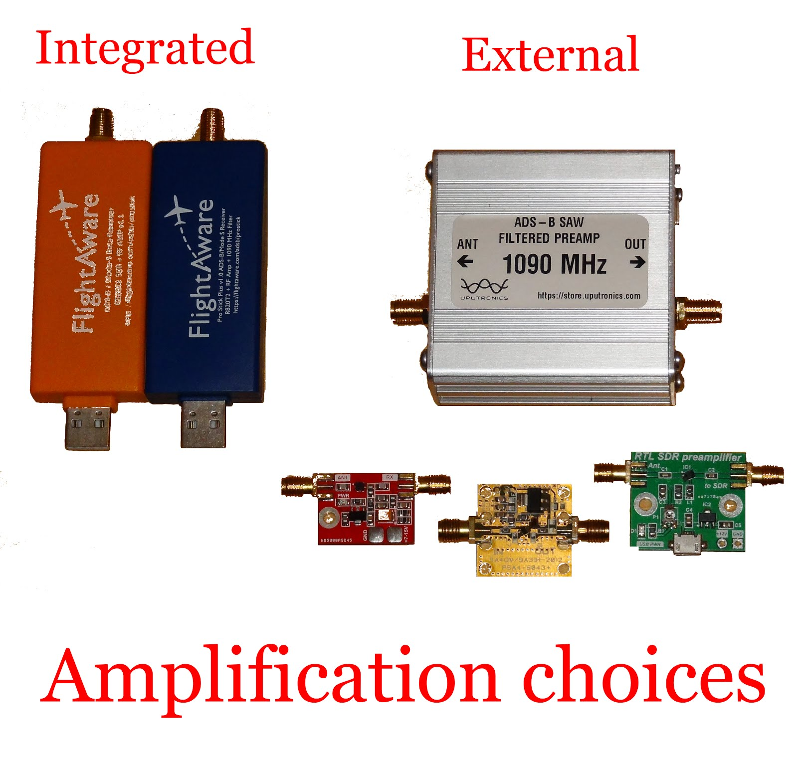 "Preamplifiers are also called LNAs, short for Low Noise Amplifiers. ""Noise  Figure"" in radio is how much thrash the preamp adds to signal, expressed in  dB, ..."