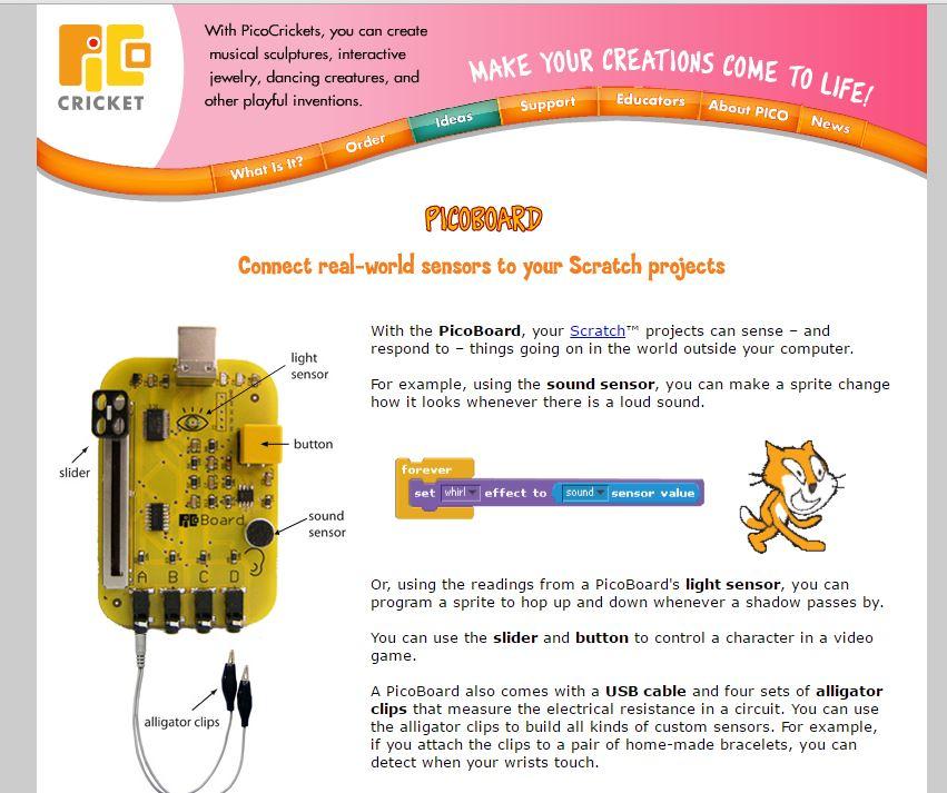 Scratch數學_驅動PicoBoard