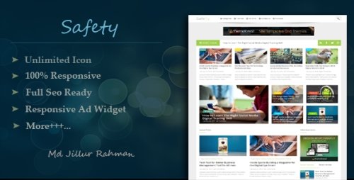 Safety - Responsive Multipurpose Blogger Template Free Download