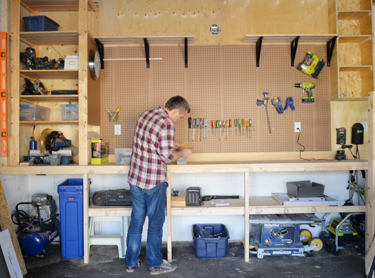 Diy garage organization ii rambling renovators for Diy 3 car garage