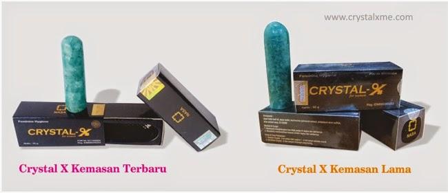crystal x kemasan terbaru dan kemasan lama
