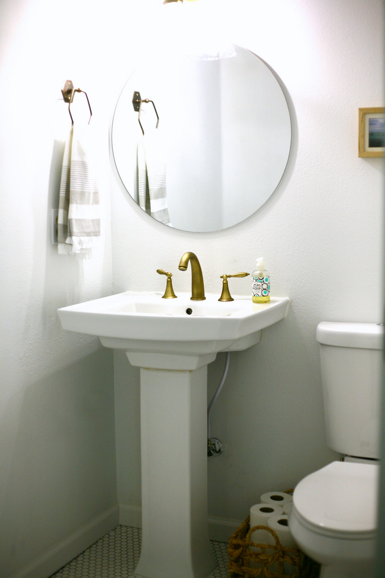 Budget and sources: $391 complete powder room makeover! / Create / Enjoy