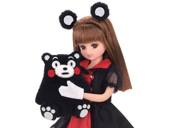 boneca Licca-chan versão Kumamon