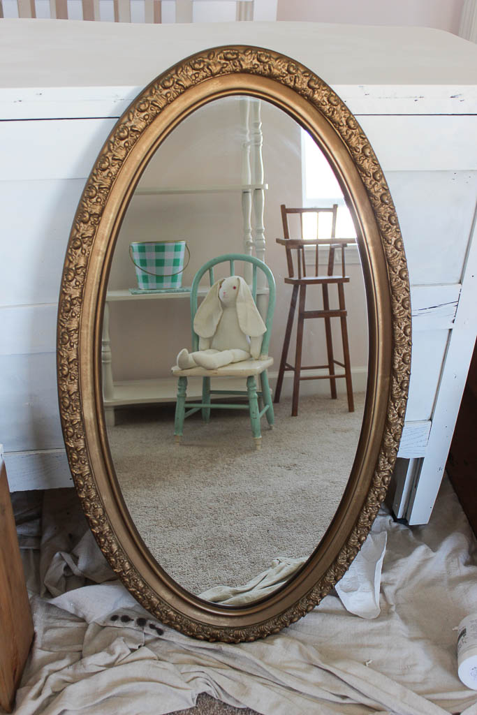 painted vintage mirror