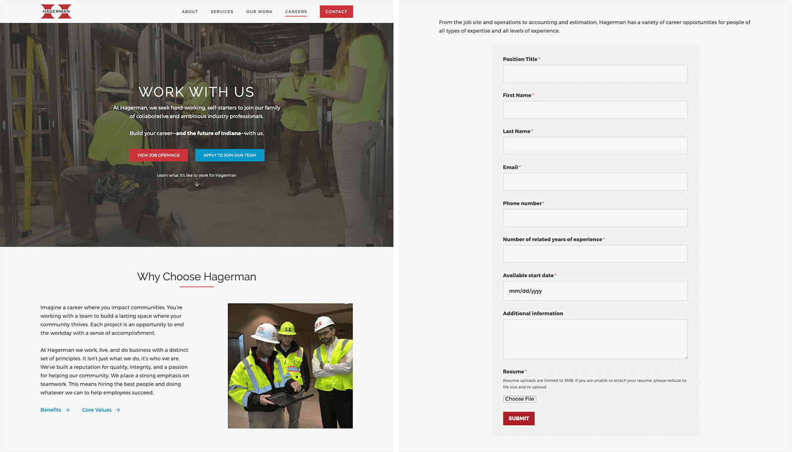 The Hagerman Group's careers website