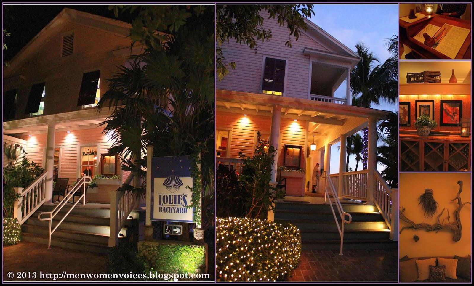 """""""紫""""的日记 The Diaries: 西屿Louie's 后院特色餐厅,佛罗里达州 Louie's ..."""