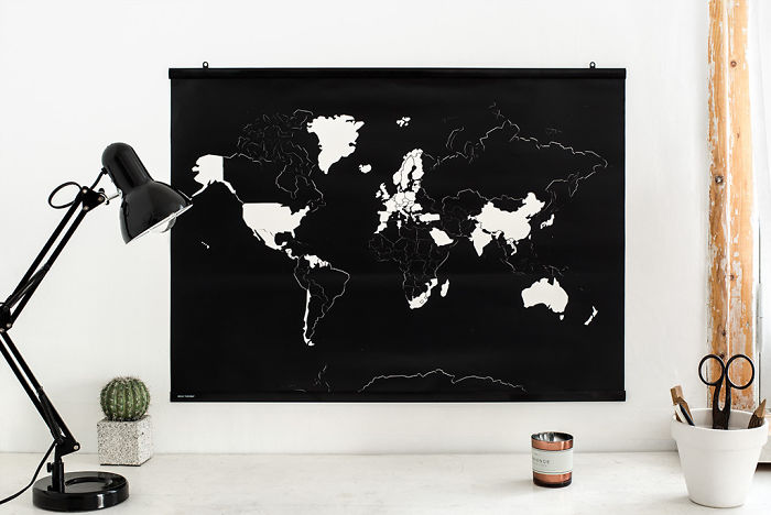 15+ Of The Best Traveler Gift Ideas Besides Actual Plane Tickets - Sticker World Map Which Lets You Remove The Stickers From The Places You've Been