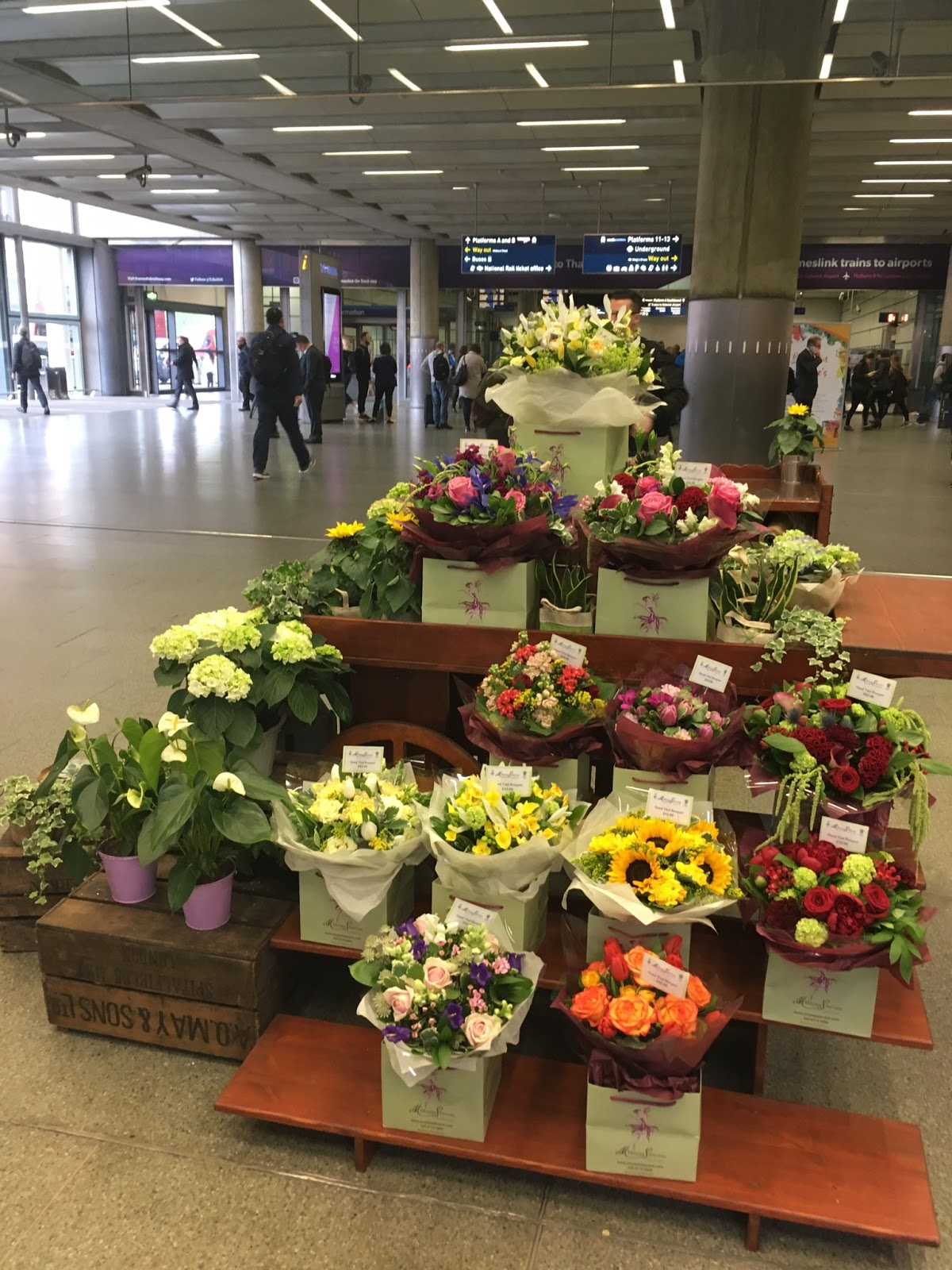 Flowers at Kings Cross