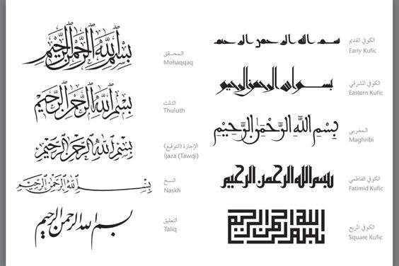 Arabic writing styles
