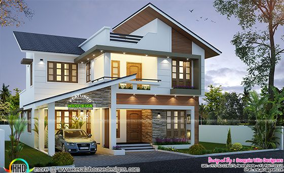 Contemporary style beautiful Villa in 2200 sq.ft