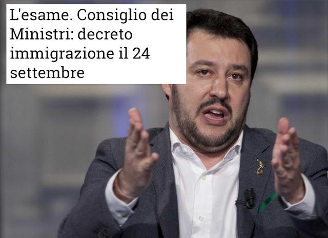 """يوم 24 شتنبر 2018 : مجلس الوزراء الإيطالي يناقش """"مرسوم الهجرة """"الجديد، وهذا ما يعد به """"سالفيني"""" المهاجرين"""