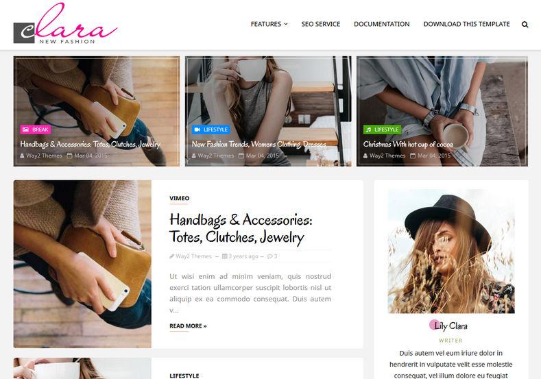 Clara Blogger Template