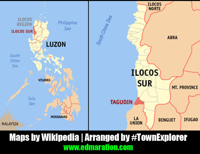Map of Tagudin, Ilocos Sur