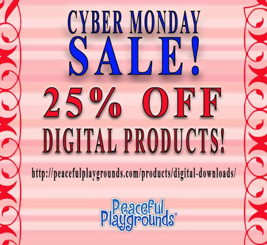 Peaceful Playgrounds Cyber Monday SALE Going On Now